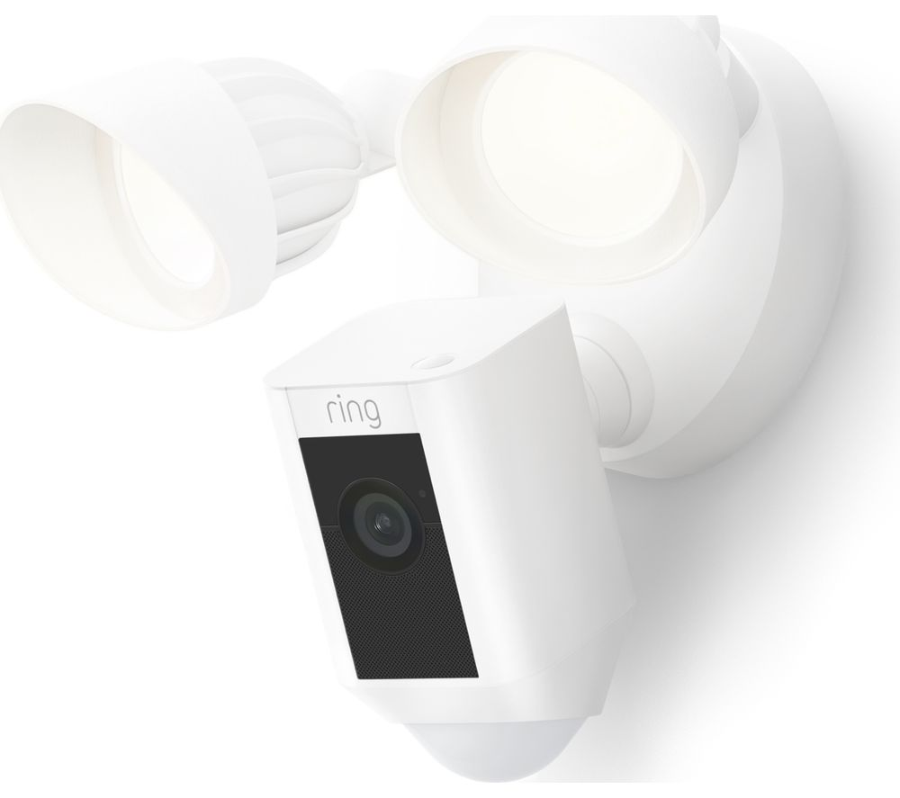 RING Floodlight Wired Plus Full HD 1080p WiFi Security Camera - White