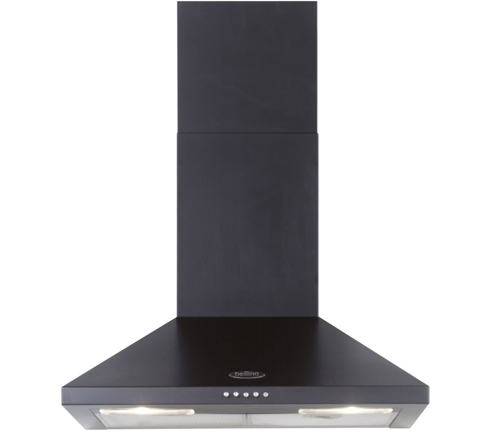 BELLING 60CHIM Chimney Cooker Hood - Black, Black