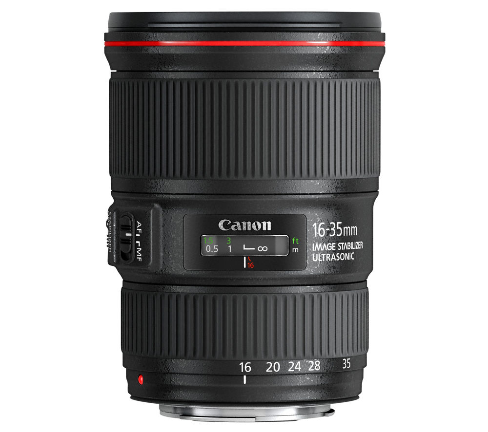 CANON EF 16-35 mm f/4L USM IS Wide-angle Zoom Lens – Black, Black