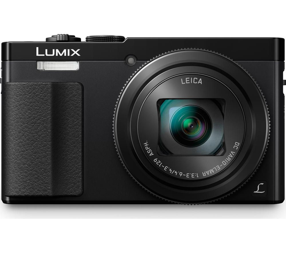 PANASONIC Lumix DMC-TZ70EB-K Superzoom Compact Camera - Black + Hard Shell Camera Case - Black