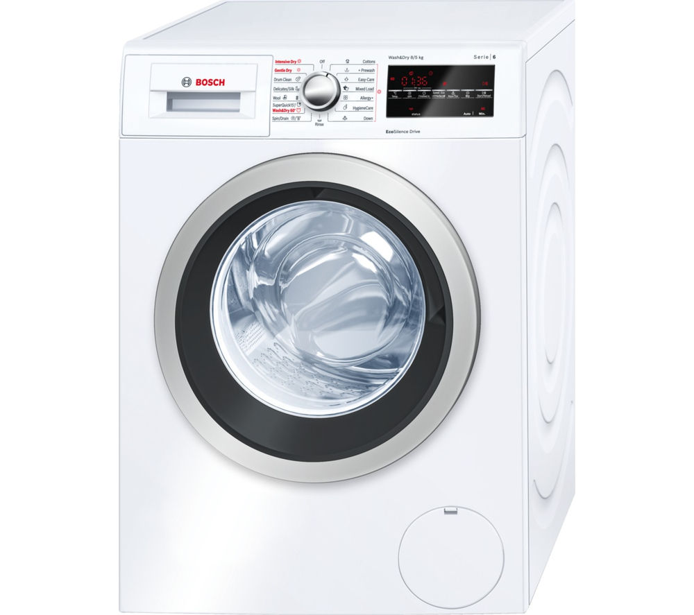 buy bosch serie 6 wvg30461gb washer dryer white free delivery currys. Black Bedroom Furniture Sets. Home Design Ideas