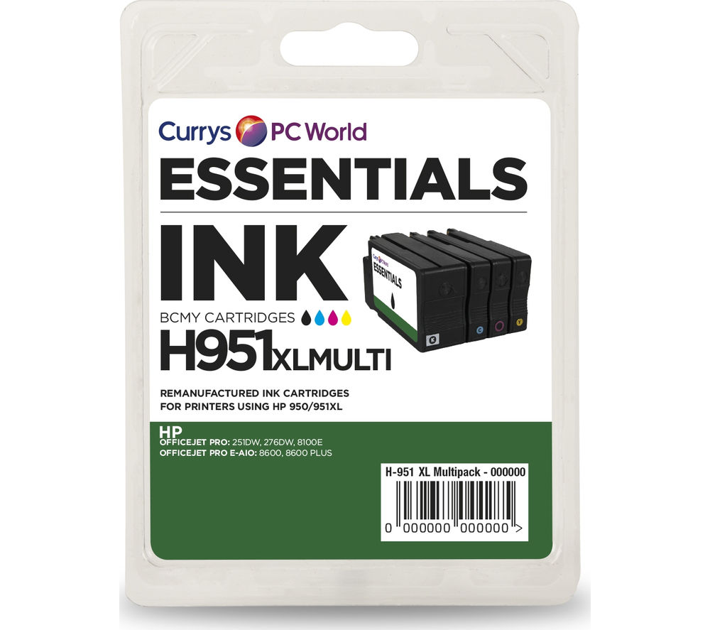 ESSENTIALS HP950 & HP951 4-Colour Ink Cartridges