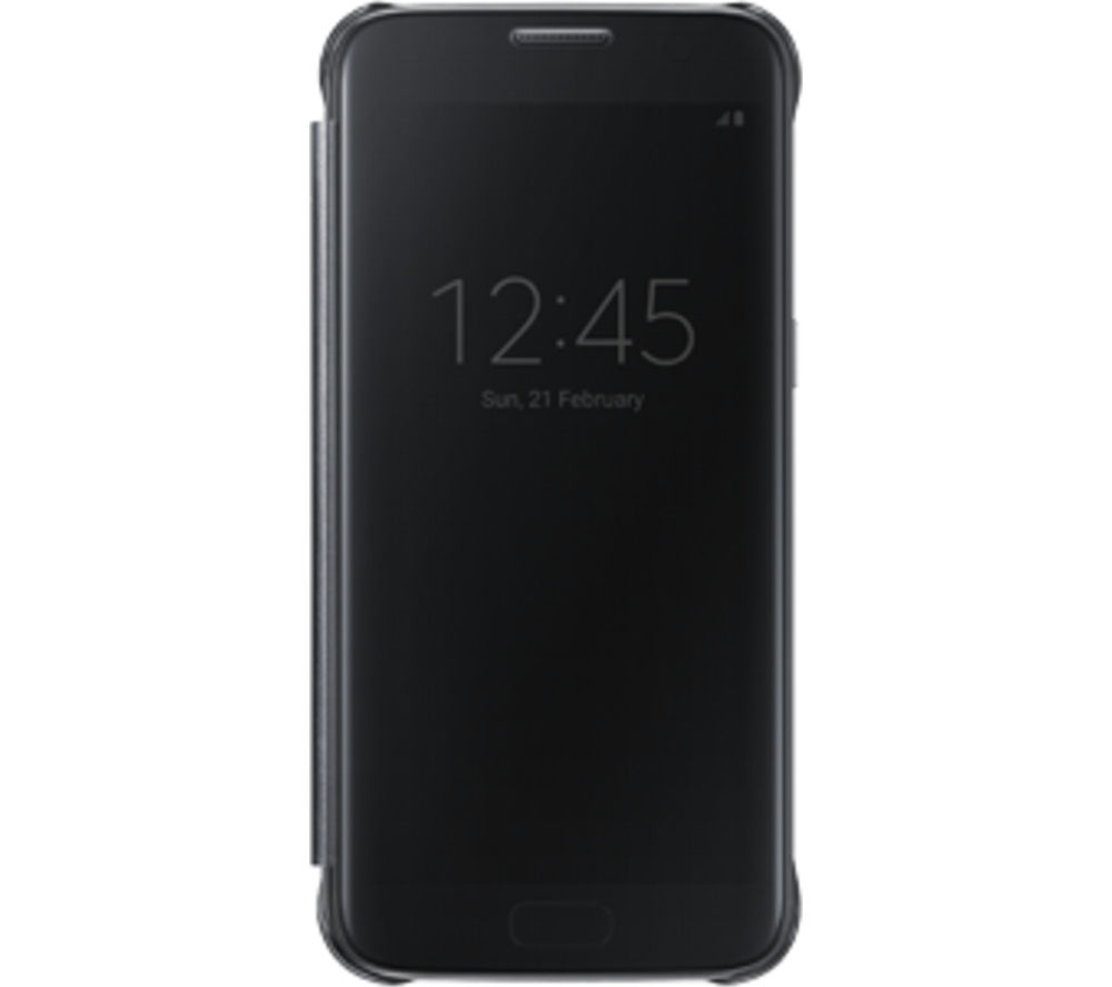 SAMSUNG Clear View Galaxy S7 Edge Cover - Black