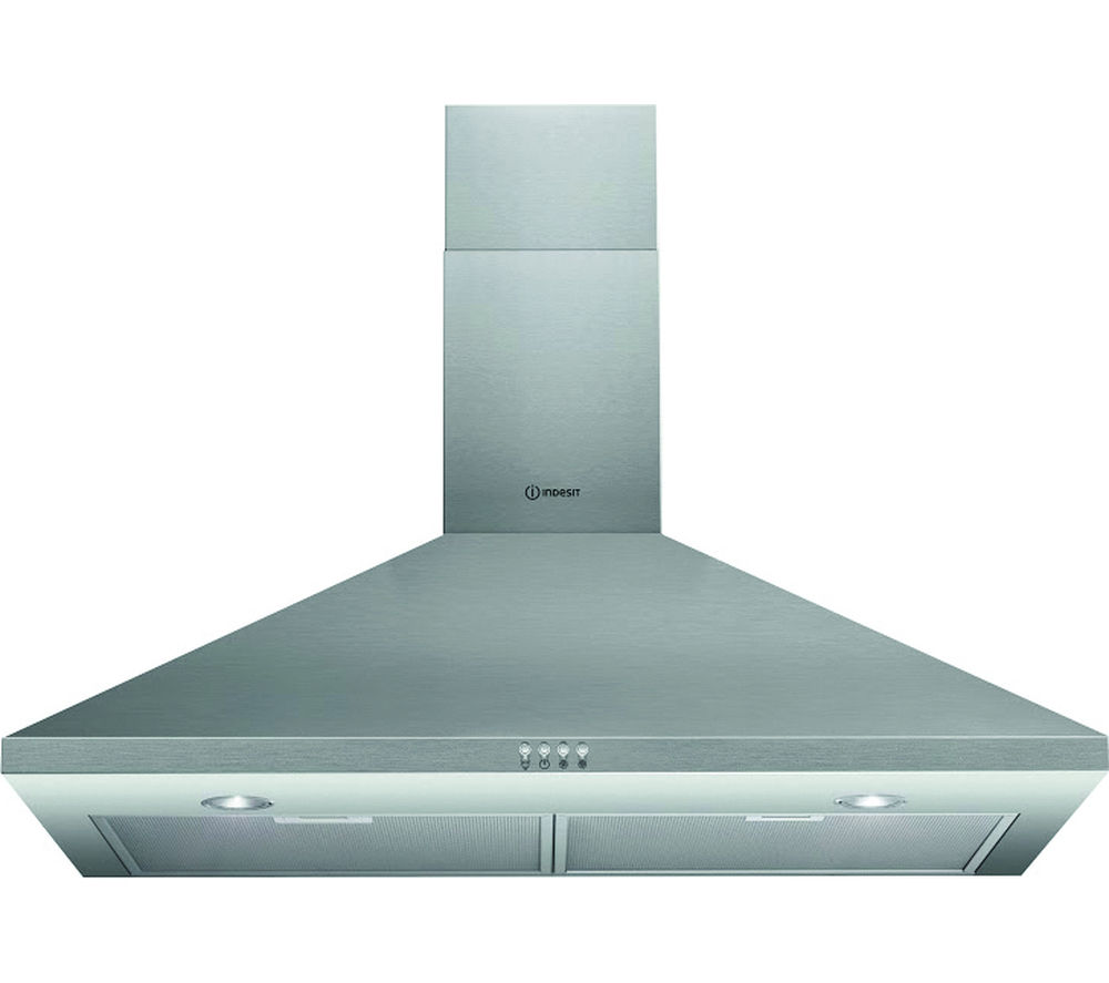 INDESIT IHPC9.4AMX Chimney Cooker Hood - Stainless Steel