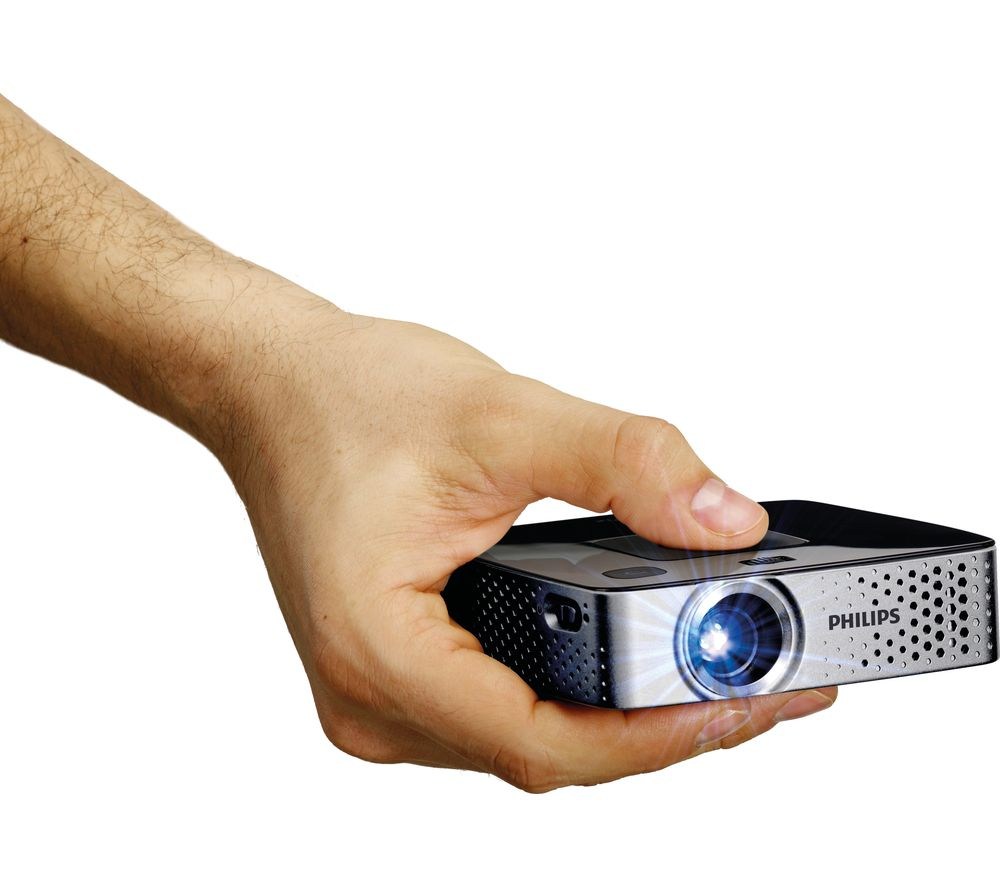 Buy philips picopix ppx3417w portable projector free for Smart pocket projector