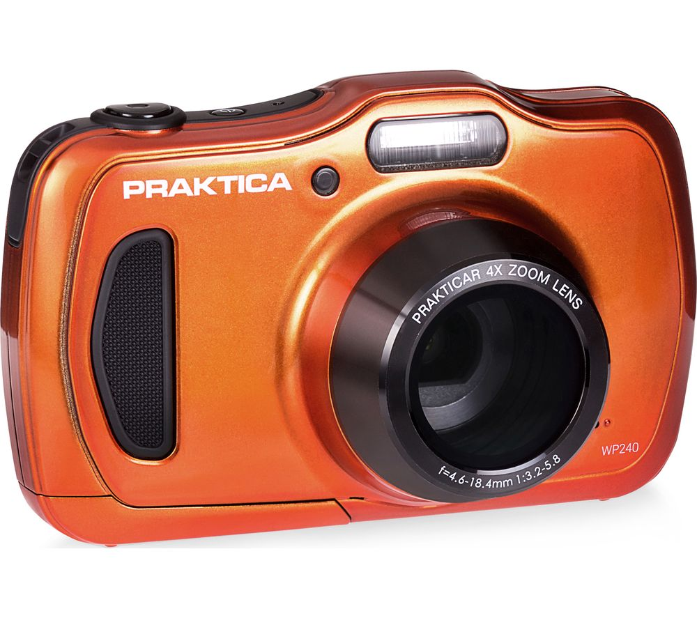 Image of PRAKTICA Luxmedia WP240-BL Compact Camera - Orange, Orange