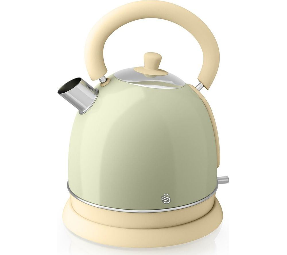 Green Kitchen Kettle: Buy SWAN Retro SK261020GN Traditional Kettle