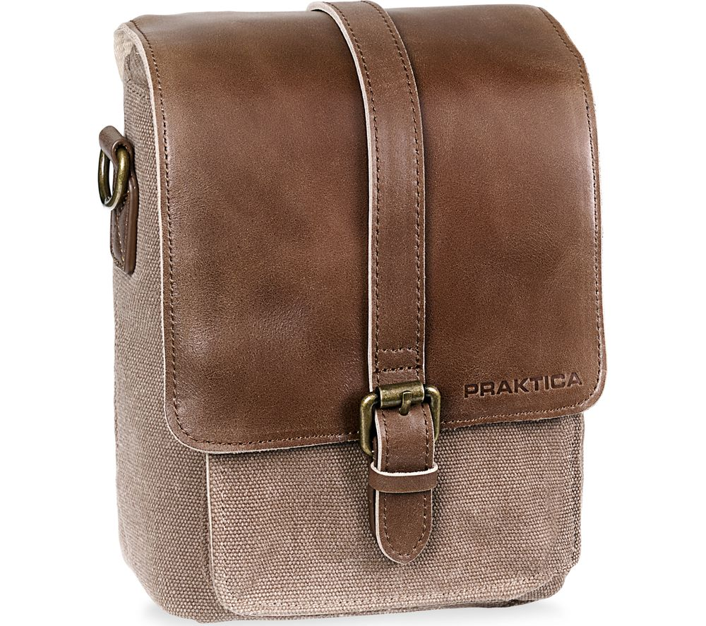 Image of PRAKTICA Heritage PAB49BR Binocular Shoulder Case - Brown & Tan, Brown