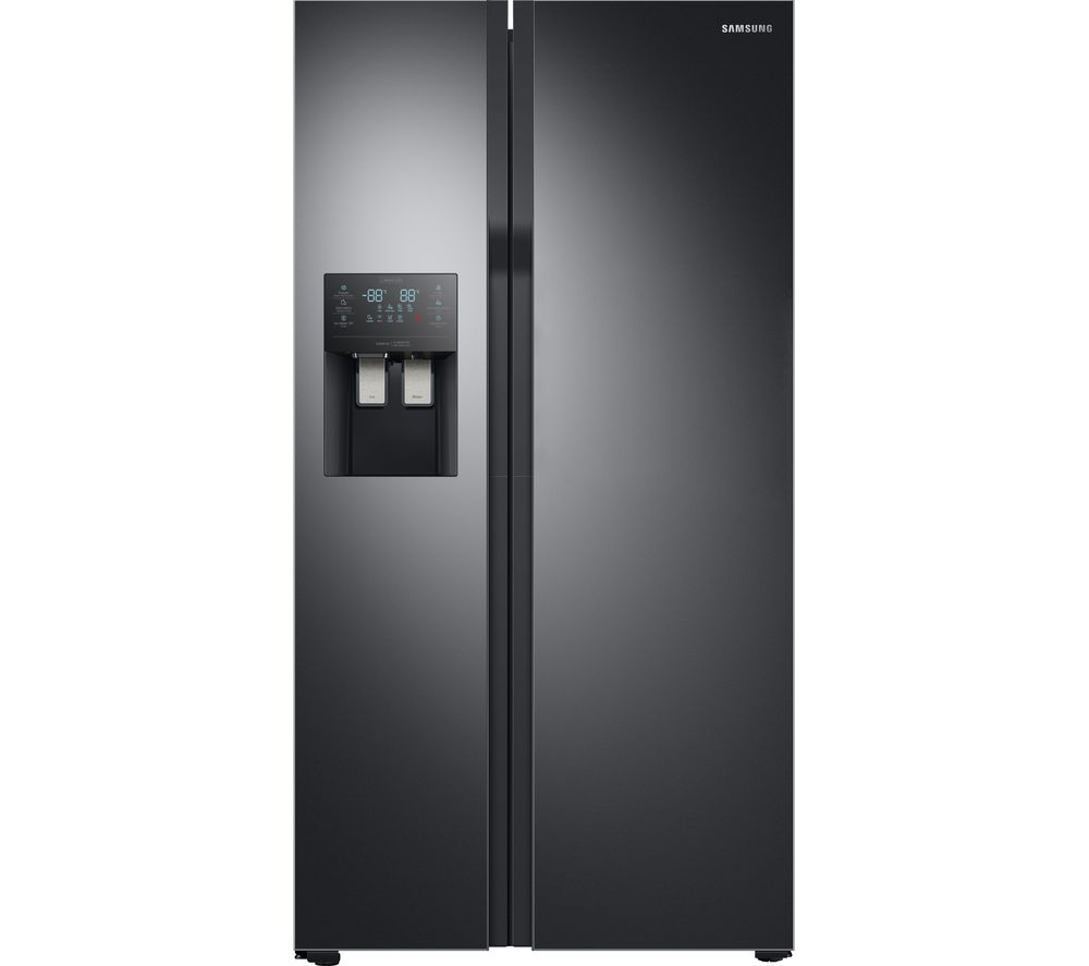 buy samsung rs51k55h02c eu american style 65 35 fridge freezer black free delivery currys. Black Bedroom Furniture Sets. Home Design Ideas