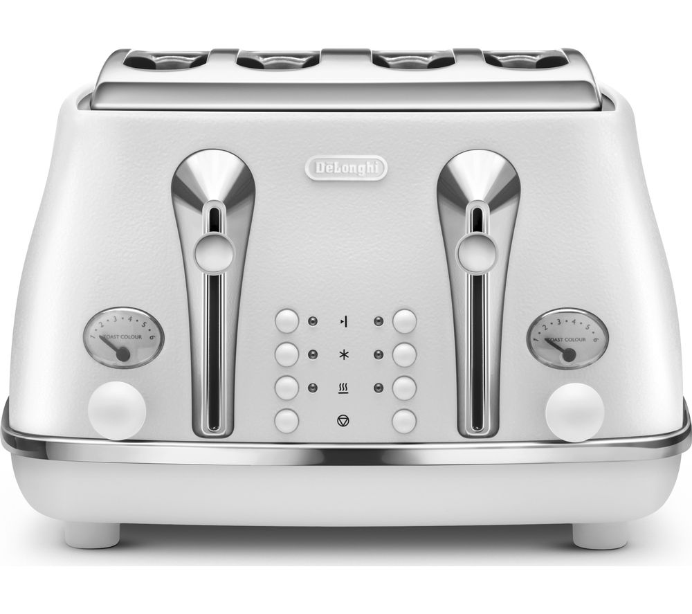 Buy Delonghi Elements Ctoe4003 W 4 Slice Toaster White