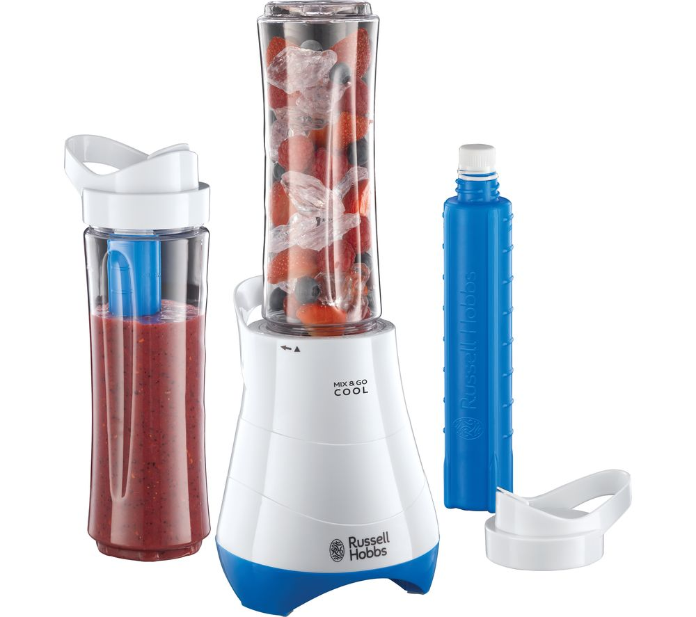 RUSSELL HOBBS Food Collection Mix & Go 21351 Blender - White & Blue
