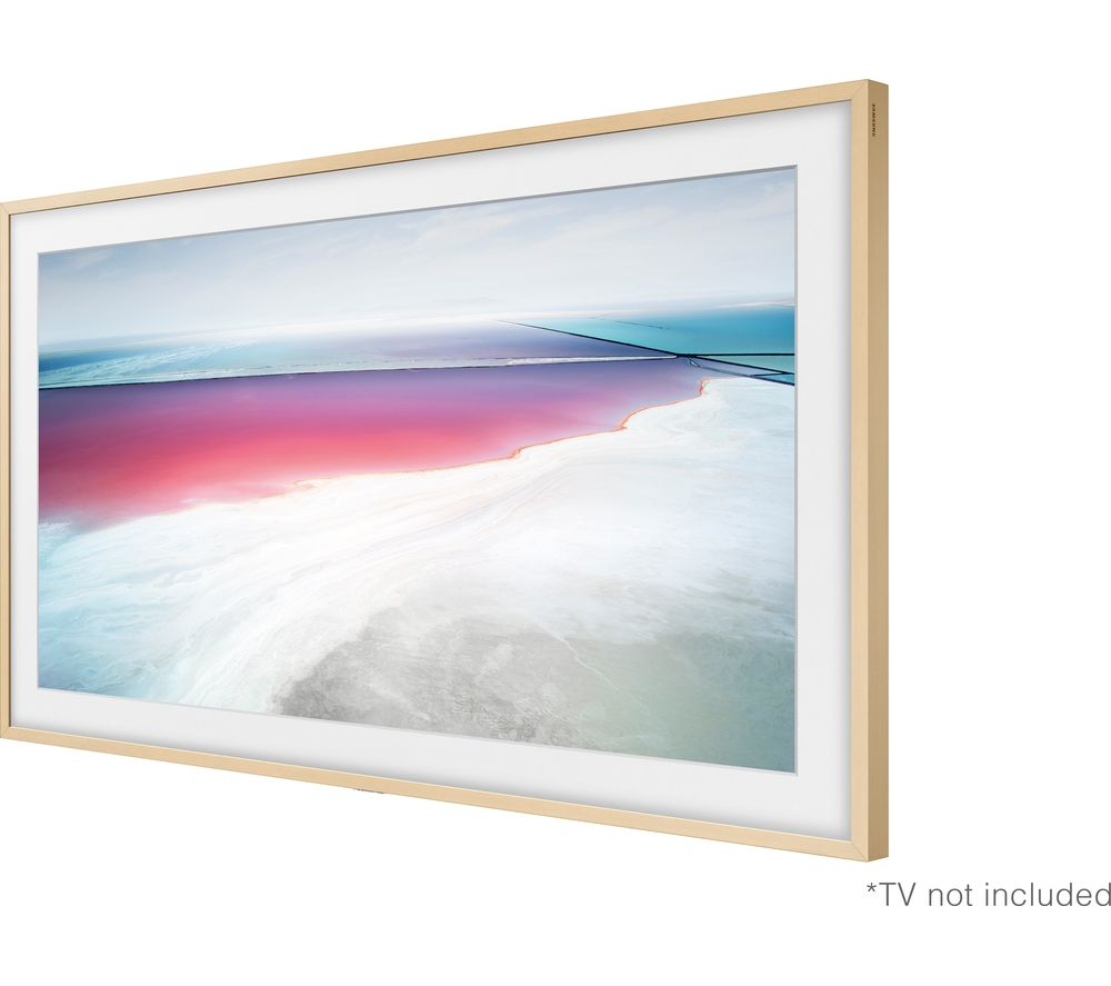 "SAMSUNG 55"" Customisable Frame Bezel - Beige Wood"