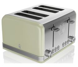 SWAN Retro ST19020GN 4-Slice Toaster - Green