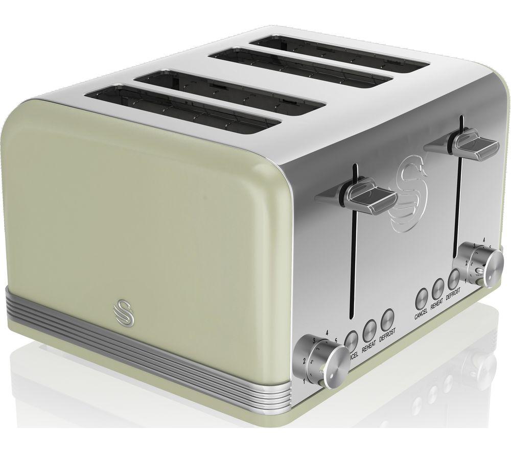 SWAN Retro ST19020GN 4-Slice Toaster - Green