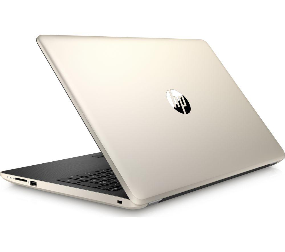"""HP 15-bs558sa 15.6"""" Laptop - Gold"""