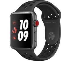 APPLE Watch Nike+ Series 3 Cellular - Black, 42 mm