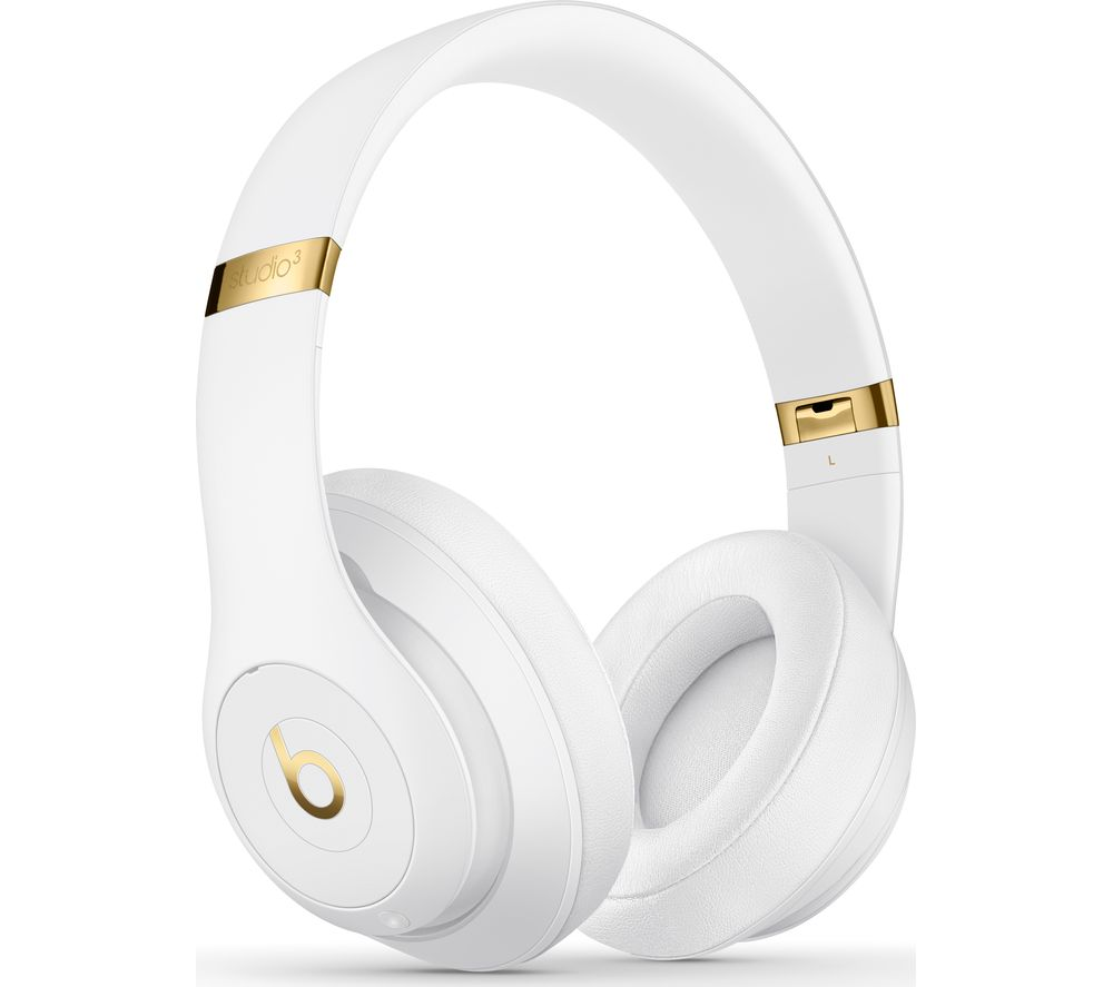 BEATS Studio 3 Wireless Bluetooth Noise-Cancelling Headphones - White