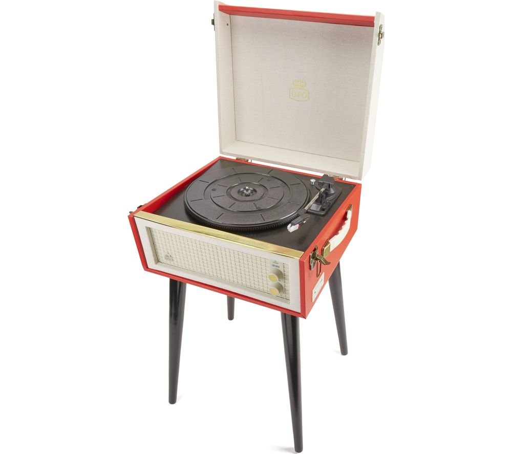 GPO Bermuda Turntable - Red & White, Red
