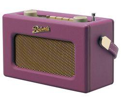 ROBERTS Revival Uno Retro Portable Clock Radio - Pink