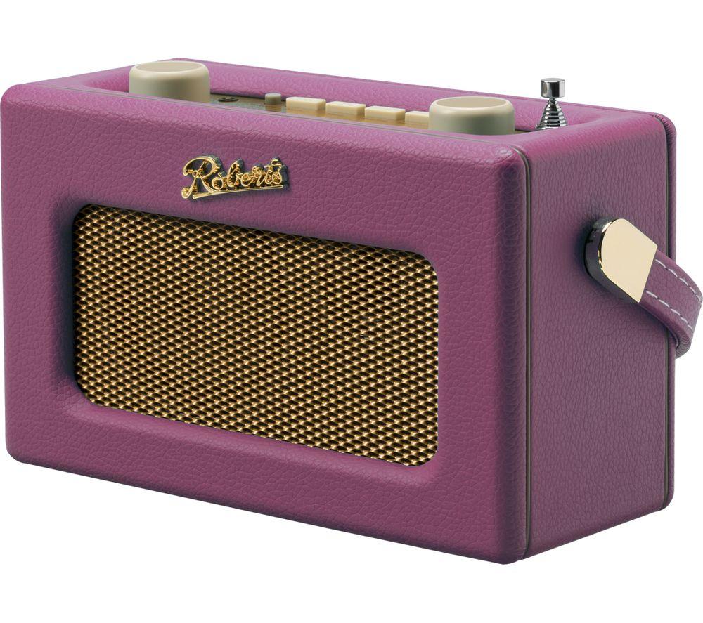 Compare prices for Roberts Revival Uno Retro Portable Clock Radio - Pink