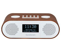 SANDSTROM S-DBTW18 DAB+/FM Bluetooth Clock Radio - Wood