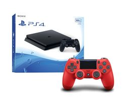 SONY PlayStation 4 Slim & DualShock 4 V2 Wireless Controller Bundle