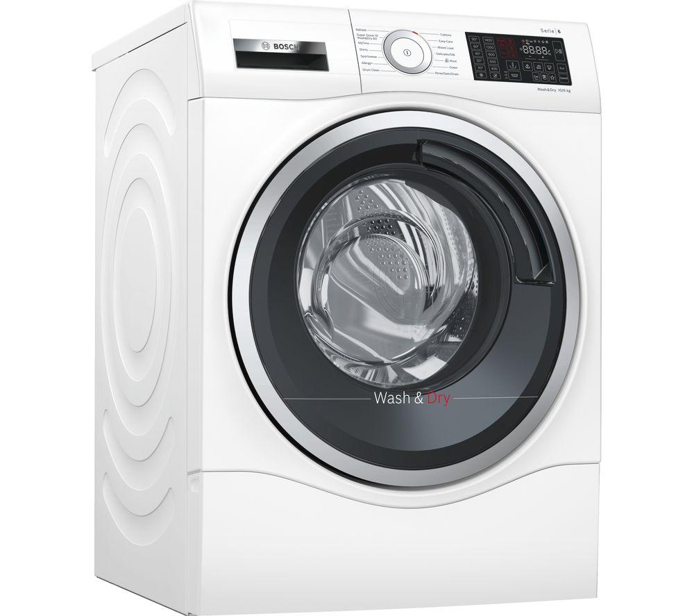 buy bosch serie 6 wdu28560gb 10 kg washer dryer white. Black Bedroom Furniture Sets. Home Design Ideas