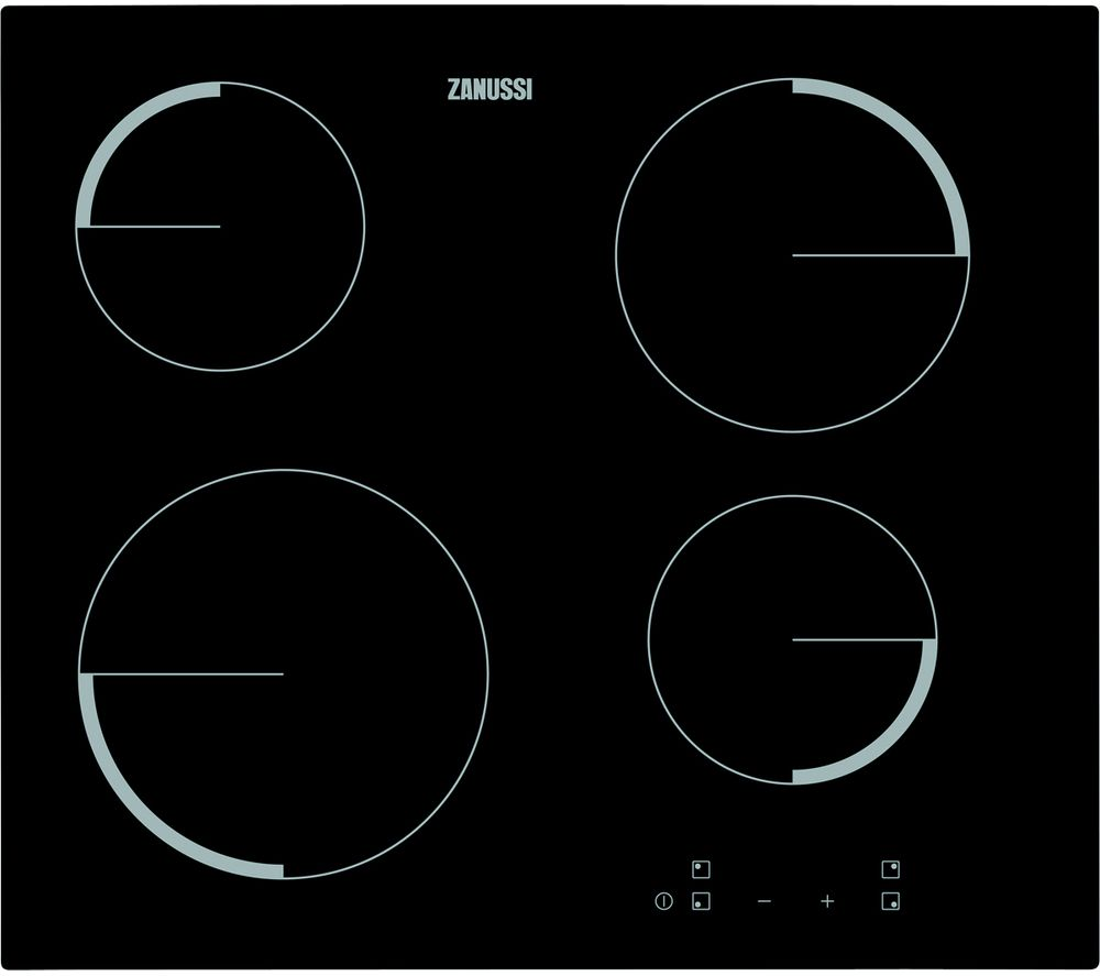 ZANUSSI ZEV6240FBA Electric Ceramic Hob - Black