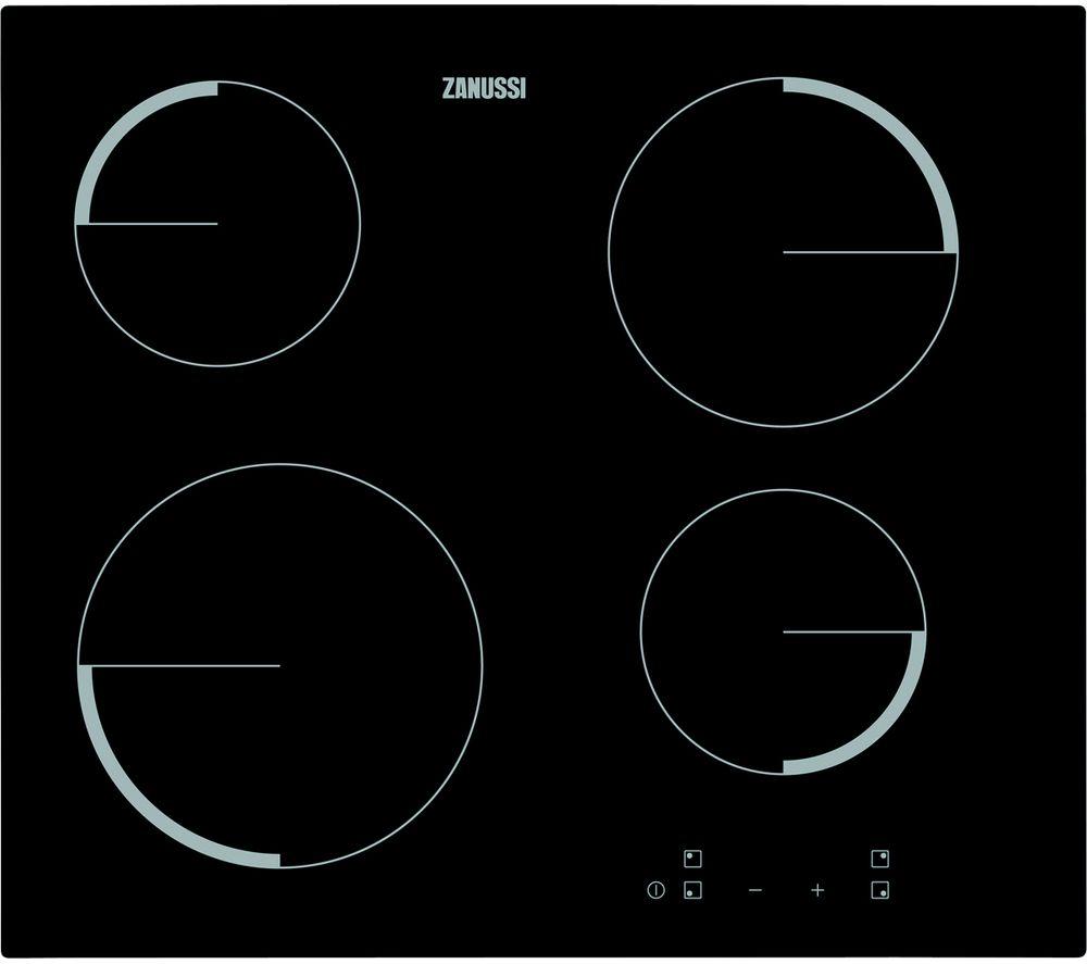 ZANUSSI ZEV6240FBA Electric Ceramic Hob - Black