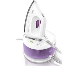 BRAUN CareStyle Compact IS2044 Steam Generator Iron - White & Violet