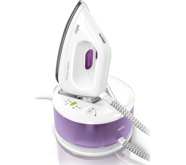 Image of BRAUN CareStyle Compact IS2044 Steam Generator Iron - White & Violet