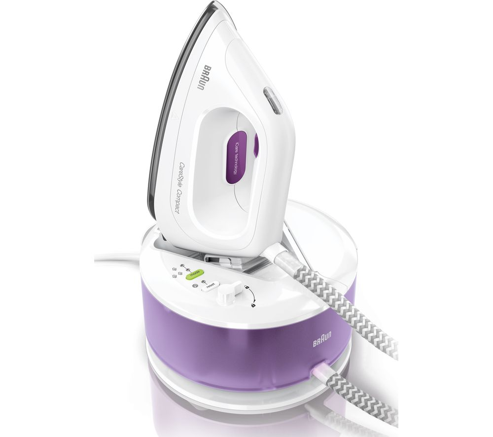 BRAUN CareStyle Compact IS2044 Steam Generator Iron - White & Violet, Braun