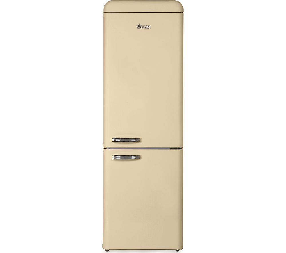 Swan SR11020CN Retro Tall Fridge Freezer - Cream