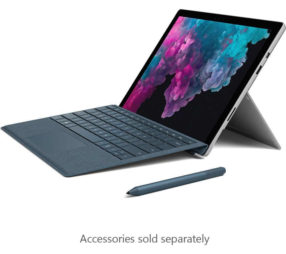 "Image of MICROSOFT 12.3"" Intel® Core™ i5 Surface Pro 6 & Type Cover - 256 GB SSD, Platinum, Black"