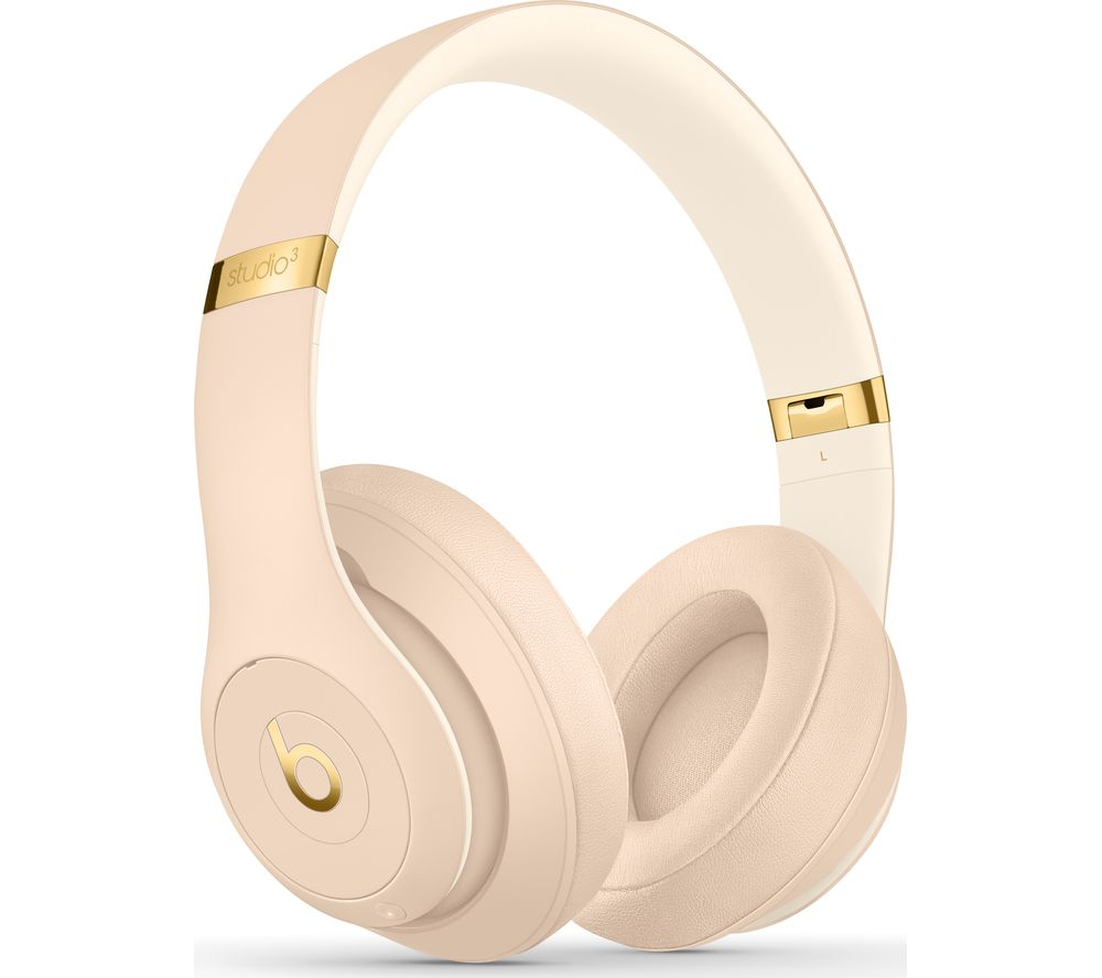 BEATS Studio 3 Wireless Bluetooth Noise-Cancelling Headphones - Desert Sand