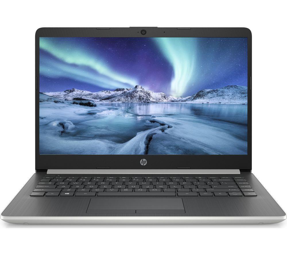 """HP 14-dk0599sa 14"""" AMD Ryzen 3 Laptop - 128 GB SSD, Silver"""