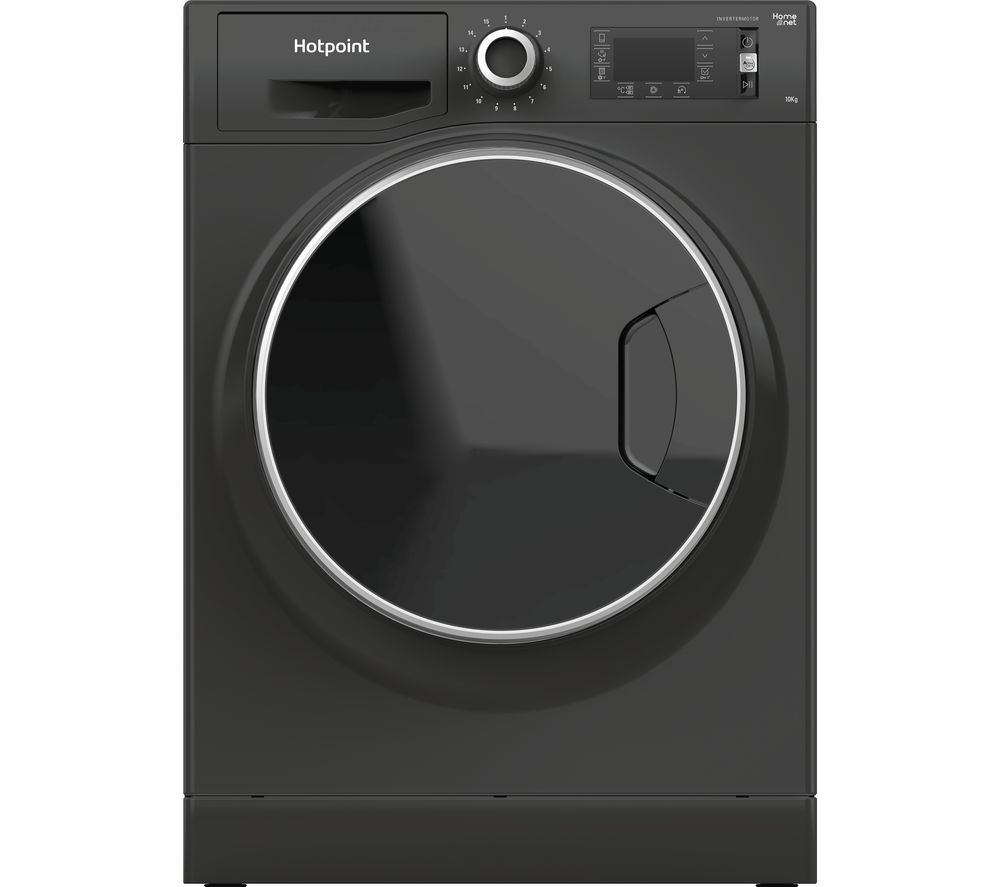 HOTPOINT ActiveCare NLLCD 1065 DGD AW UK WiFi-enabled 10 kg 1600 Spin Washing Machine - Grey, Grey