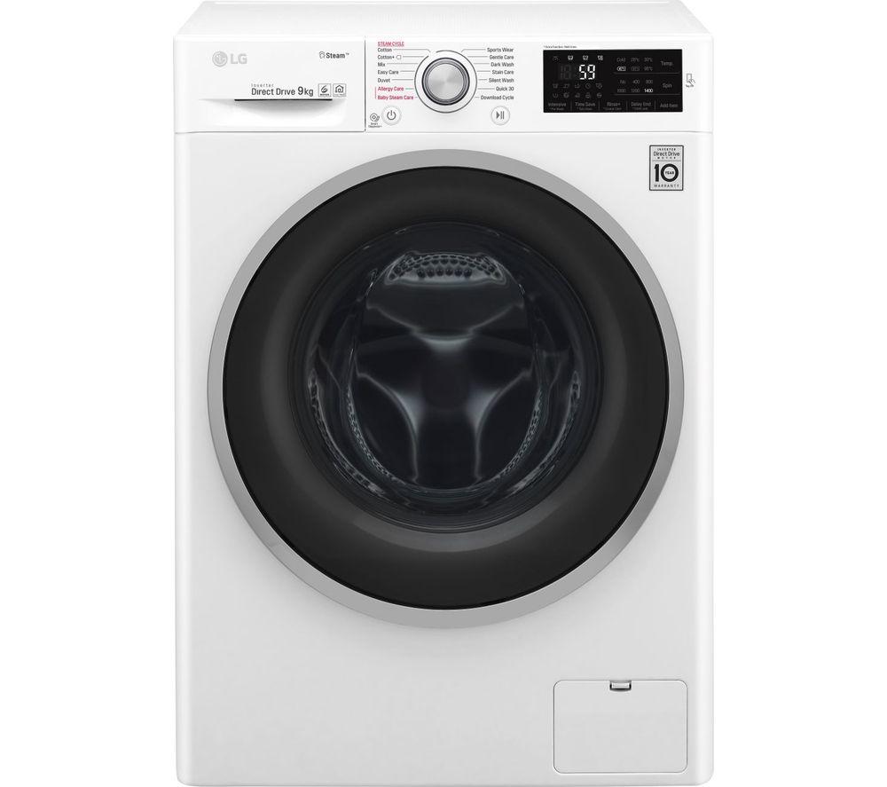 F4J609WS NFC 9 kg 1400 Spin Washing Machine - White, White