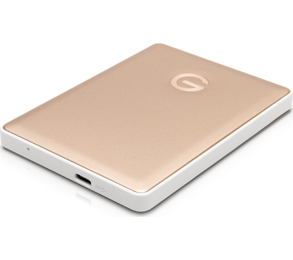 G TECH G-DRIVE Mobile Portable Hard Drive - 2 TB, Gold
