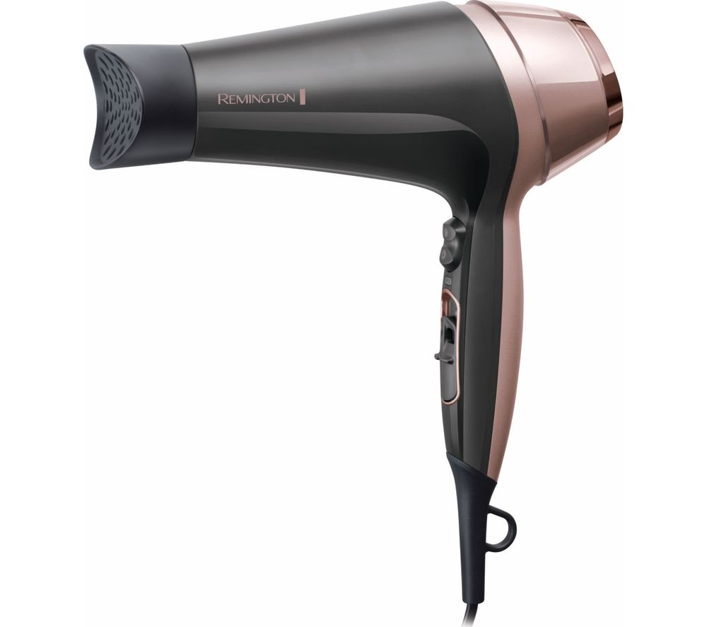 REMINGTON Curl and Straight Confidence D5706 Hair Dryer - Grey & Rose Gold
