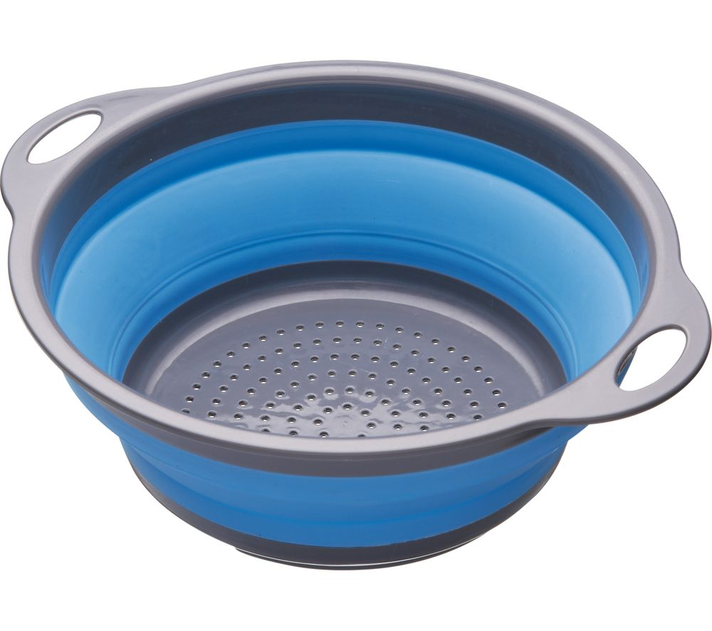 Image of Collapsible Colander - Grey & Blue, Grey