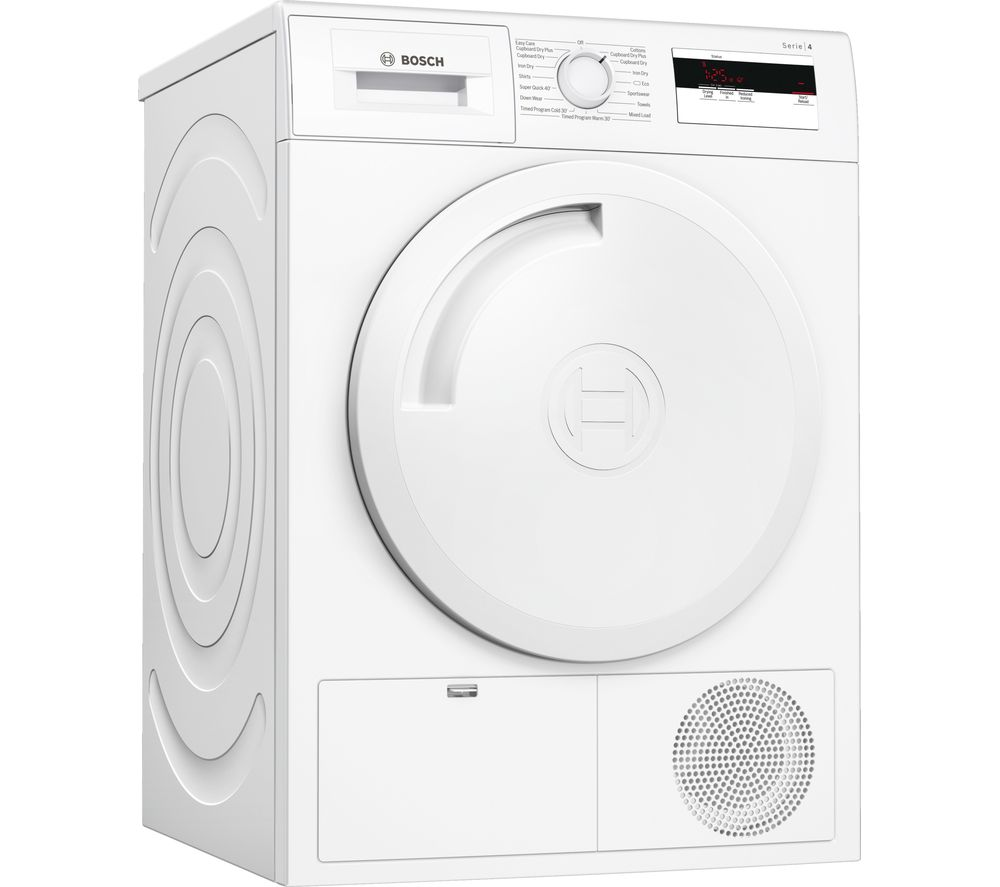 BOSCH Serie 4 WTH84000GB 8 kg Heat Pump Tumble Dryer - White