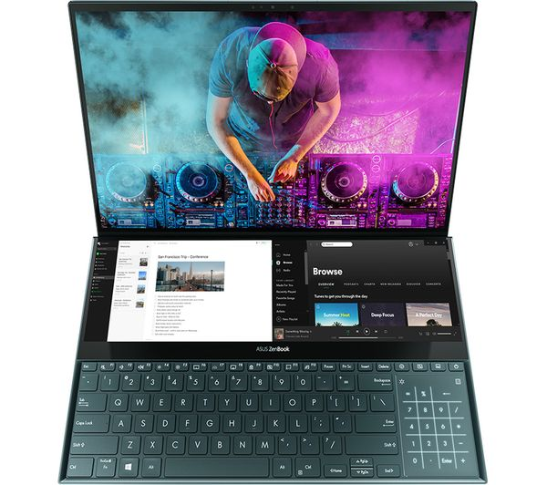 "Image of ASUS ZenBook Pro Duo UX581GV 15.6"" Intel® Core™ i7 Laptop - 512 GB SSD, Blue"