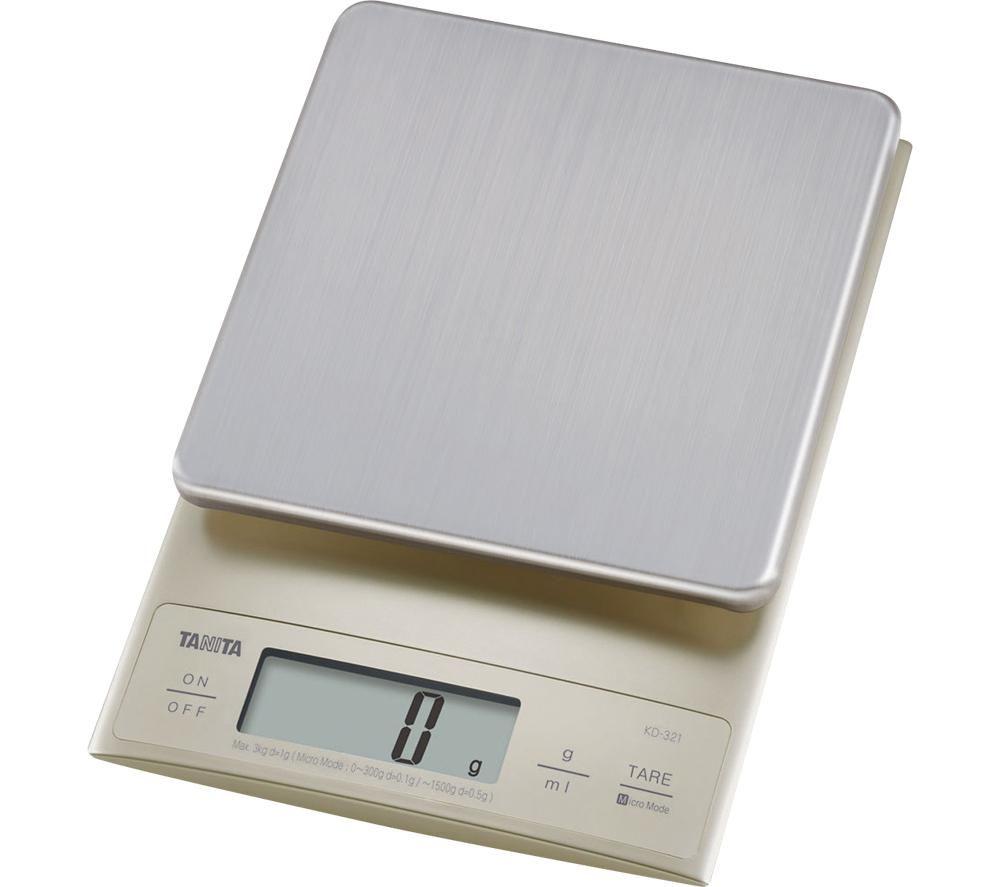 TANITA KD-321 Electronic Kitchen Scale - Silver