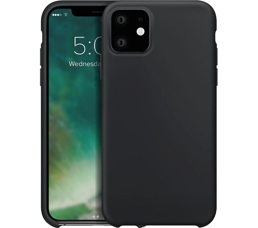 XQISIT iPhone 11 Silicone Case - Black