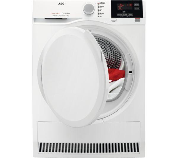 AEG 7000 Series T7DBG840N 8 kg Heat Pump Tumble Dryer - White