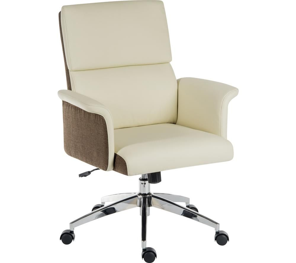 TEKNIK Elegance Medium Faux-Leather Executive Chair - Cream & Brown