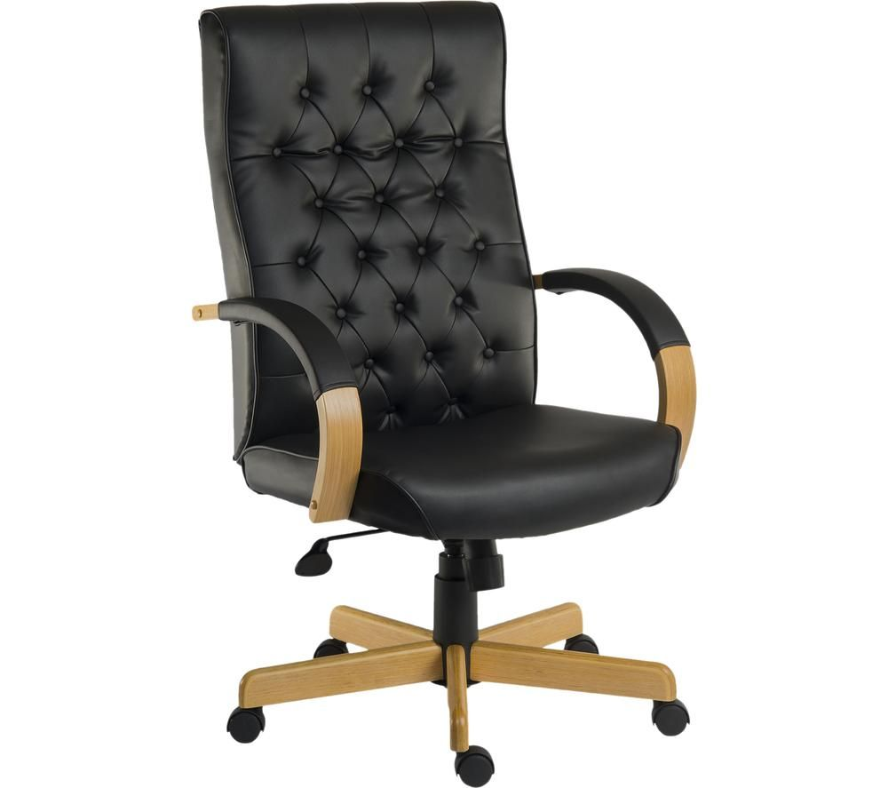 TEKNIK Warwick Bonded-leather Tilting Executive Chair - Noir