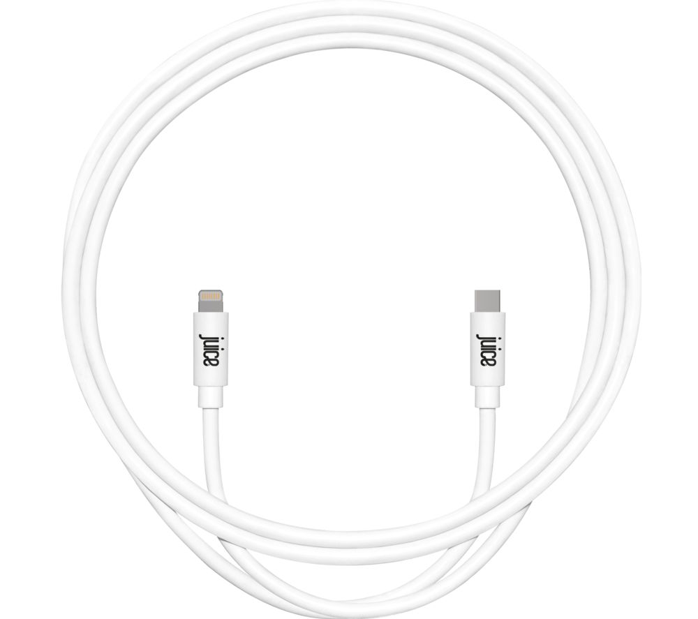JUICE USB Type-C to Lightning Cable - 2 m, White