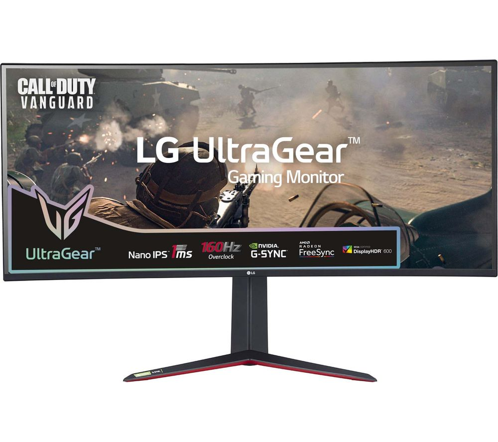 "Image of LG UltraGear 38GN950-B Quad HD 38"" Curved Nano IPS LCD Gaming Monitor - Black, Black"